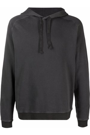 Boglioli Raglan-sleeve pullover hoodie - Grey