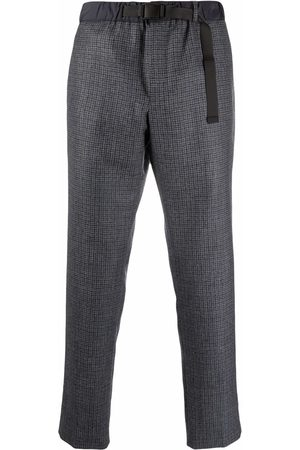 PT01 Belted check tailored trousers