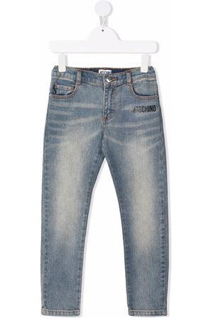 Moschino Kids Girls Slim - Toy Bear slim-cut jeans