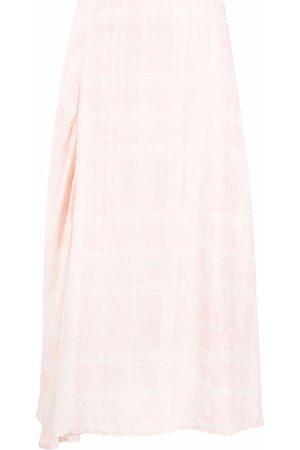 Holzweiler Women Printed Skirts - Check-pattern midi skirt