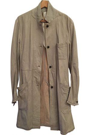 ISAAC SELLAM EXPERIENCE Ecru Leather Coats