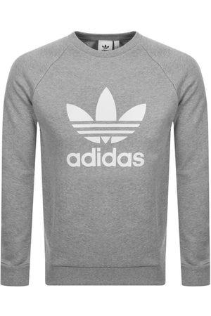 adidas Men Sweatshirts - Trefoil Sweatshirt Grey