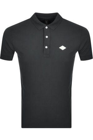 Replay Men Short Sleeve - Short Sleeved Logo Polo T Shirt Grey