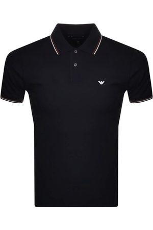 Armani Emporio Short Sleeved Polo T Shirt Navy