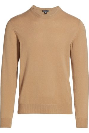 Saks Fifth Avenue Men's COLLECTION Lightweight Cashmere Sweater - Camel - Size XL