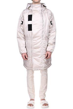 Givenchy Men's Padded Parka - Pearl Grey - Size 42