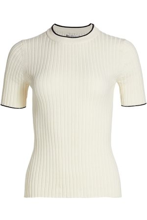 Anna Quan Women's Bebe Short Sleeve Top - Off - Size 14
