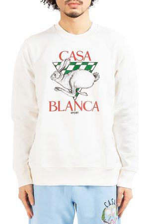 Casablanca Men's Grand Prix Casa Sport Printed Sweatshirt - Off - Size XL