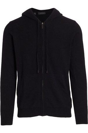 Saks Fifth Avenue Men Hoodies - Men's COLLECTION Cashmere Zip Front Hoodie - - Size XL