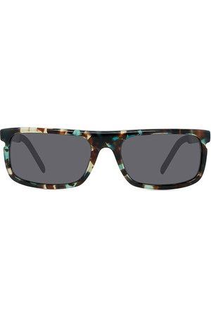 Kenzo Men Sunglasses - Men's 58MM Rectangular Sunglasses - Coloured Havana Smoke