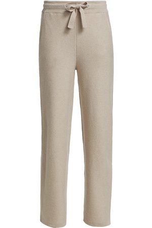 Saks Fifth Avenue Women Straight Leg Pants - Women's COLLECTION Wool-Cashmere Straight-Leg Lounge Pant - Dove Grey - Size XL