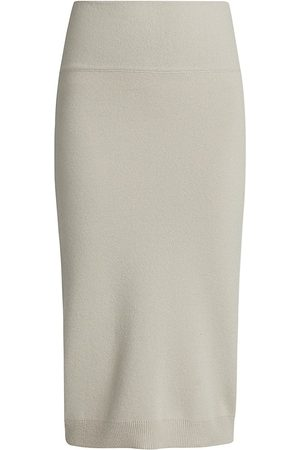 Saks Fifth Avenue Women's COLLECTION: Cashmere Pencil Skirt - Pelican Grey - Size XS