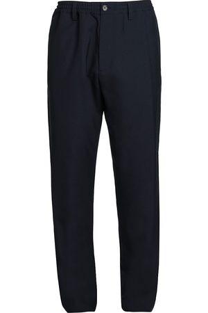 Marni Men's Straight-Leg Elastic Waist Trousers - Blu - Size 36