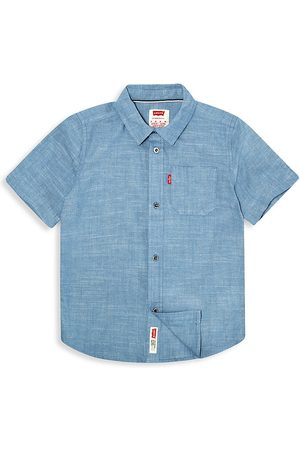 Levi's Little Boy's Short Sleeve Chambray Button Up Shirt - Chambray - Size 7