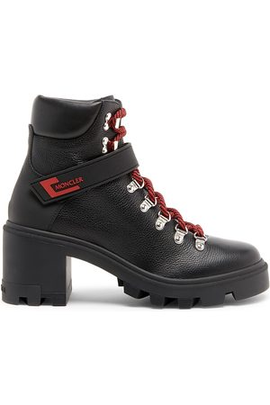 Moncler Women's Carol Leather Ankle Boots - - Size 9