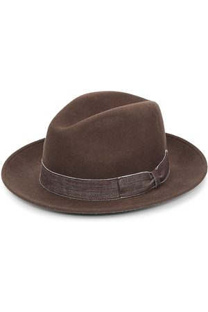 Saks Fifth Avenue Men Hats - Men's Banded Wool Fedora - - Size Small