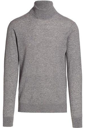 Saks Fifth Avenue Men High Necks - Men's COLLECTION Lightweight Cashmere Turtleneck - Heathered Dark Grey - Size Large