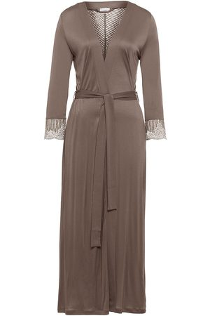 Hanro Women Socks - Women's Irini Long Robe - Sea Grass - Size Medium