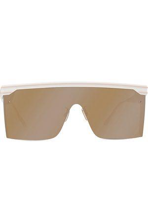Dior Men Sunglasses - Men's Injected Mirrored Shield Sunglasses - Ivory Vi