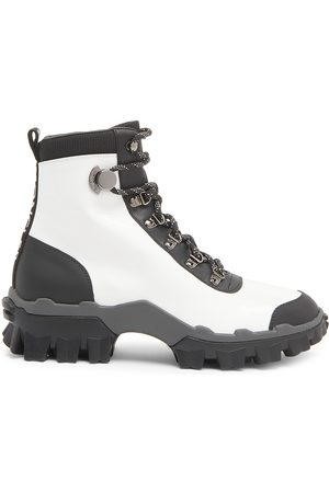 Moncler Women Outdoor Shoes - Women's Helis Leather Hiking Boots - - Size 8.5