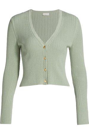 Ramy Brook Women's Corey V-Neck Sweater - Light Seafoam - Size XS
