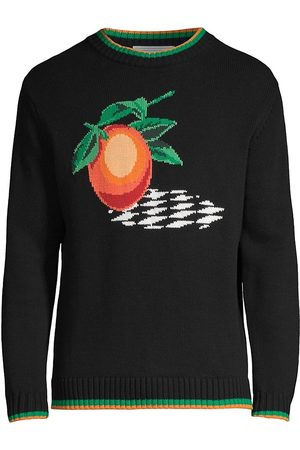 Casablanca Men Sweatshirts - Men's Intarsia Sweater - - Size Medium