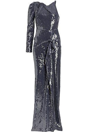 Roland Mouret Women's Delamare Off-The-Shoulder Sequin Gown - Navy - Size 6