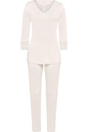Hanro Women Socks - Women's Irini 2-Piece Pajama Set - Full Moon - Size XL