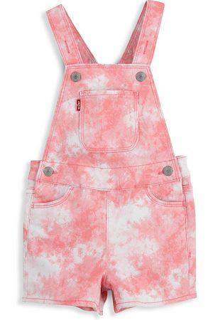 Levi's Little Girl's & Girl's Tie-Dye Twill Shortalls - Peony - Size 7