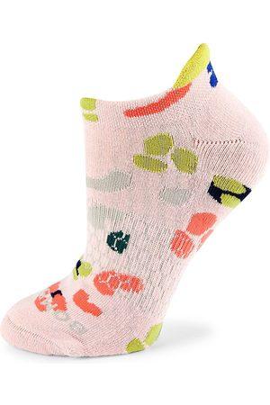 BOMBAS Women's Pride Leopard Ankle Socks - Carnation - Size Medium