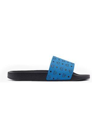 MCM Men's Logo Pool Slides - Vallarta - Size 12 Sandals