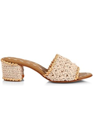 Carrie Forbes Women Mules - Women's Abdel Raffia Mules - Natural - Size 8