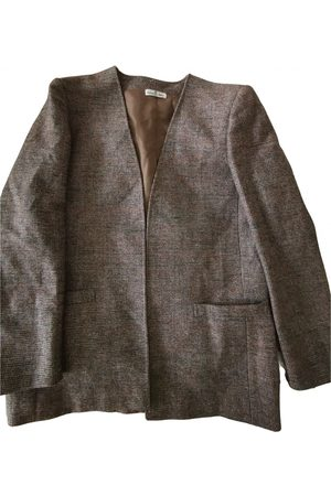 JACQUES FATH Grey Wool Trench Coats