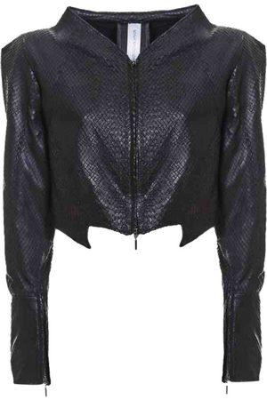SONIA MACADDINO Leather biker jacket