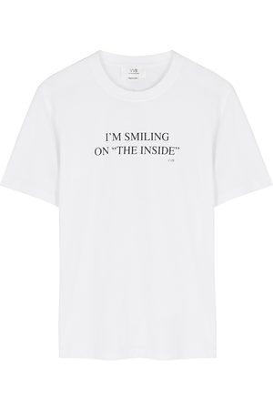 Victoria Beckham Printed cotton T-shirt