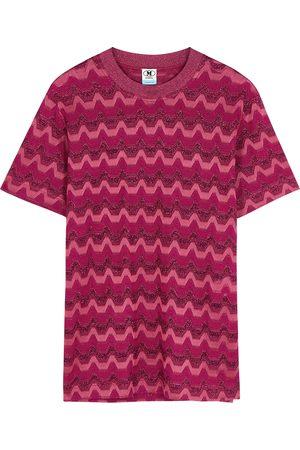 M Missoni Women T-shirts - Zigzag metallic-knit T-shirt