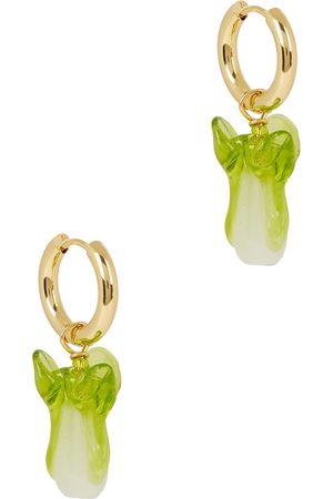SANDRALEXANDRA Pak Choi 18kt gold-plated hoop earrings