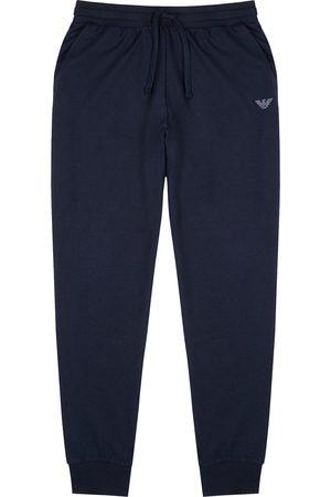 Emporio Armani Navy jersey sweatpants