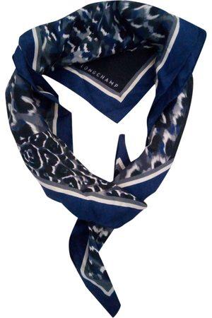 Longchamp Navy Silk Scarves