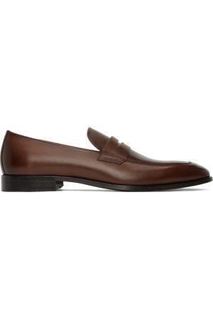 HUGO BOSS Brown Libson Loafers