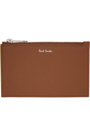 Paul Smith Brown Zip Pouch Card Holder