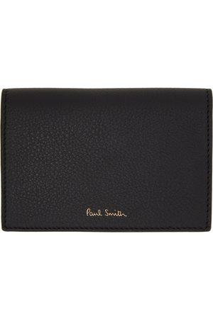 Paul Smith Black Signature Stripe Pouch Card Holder