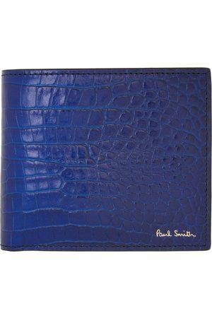 Paul Smith Men Wallets - Indigo Mock-Croc Billfold Wallet
