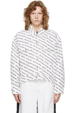 Alexander Wang Women Denim Jackets - White Denim Falling Back Jacket