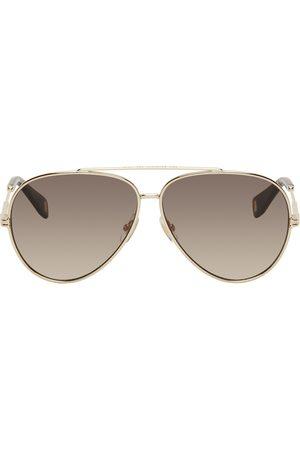 Marc Jacobs Women Aviators - Gold & Brown Aviator Sunglasses