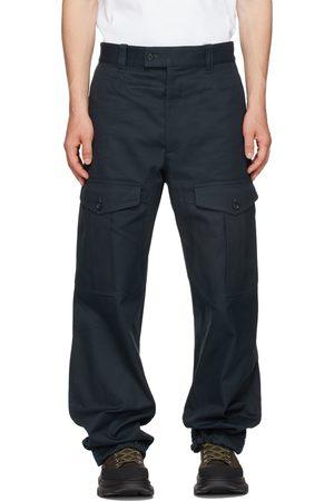 Alexander McQueen Navy Gabardine Cargo Pants