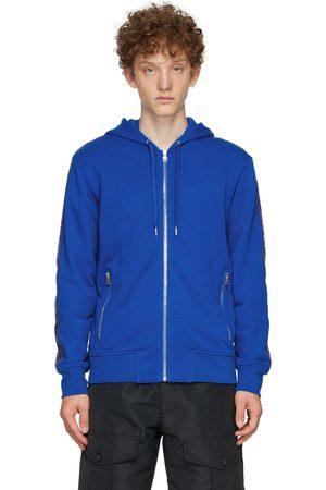 Alexander McQueen Blue Selvedge Logo Tape Hoodie