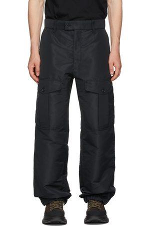 Alexander McQueen Black Faille Cargo Pants