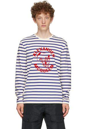 Alexander McQueen Off-White & Blue '70s Skull Long Sleeve T-Shirt