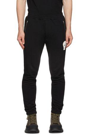 Alexander McQueen Black Crochet Skull Lounge Pants